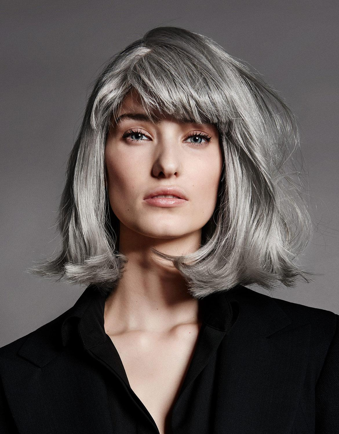 balayage gris cheveux blancs. Black Bedroom Furniture Sets. Home Design Ideas