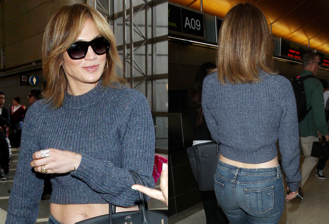 Jennifer Lopez Adopte Elle Aussi Le Carre Madame Figaro