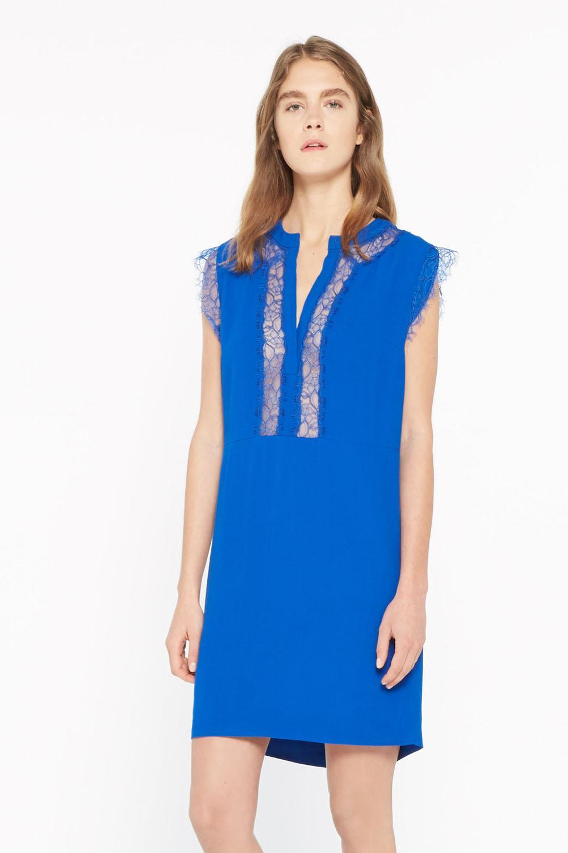photo imaxtree la robe bleu lectrique de sandro - Robe Bleu Electrique Mariage
