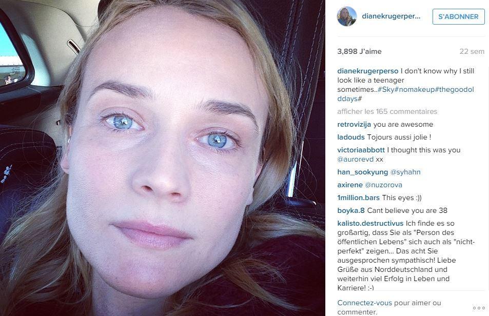 Sharon Stone célèbre ses 58 ans avec un selfie no make-up ... Jennifer Aniston Instagram