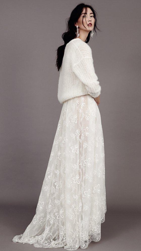 Robe de mariee d'hiver