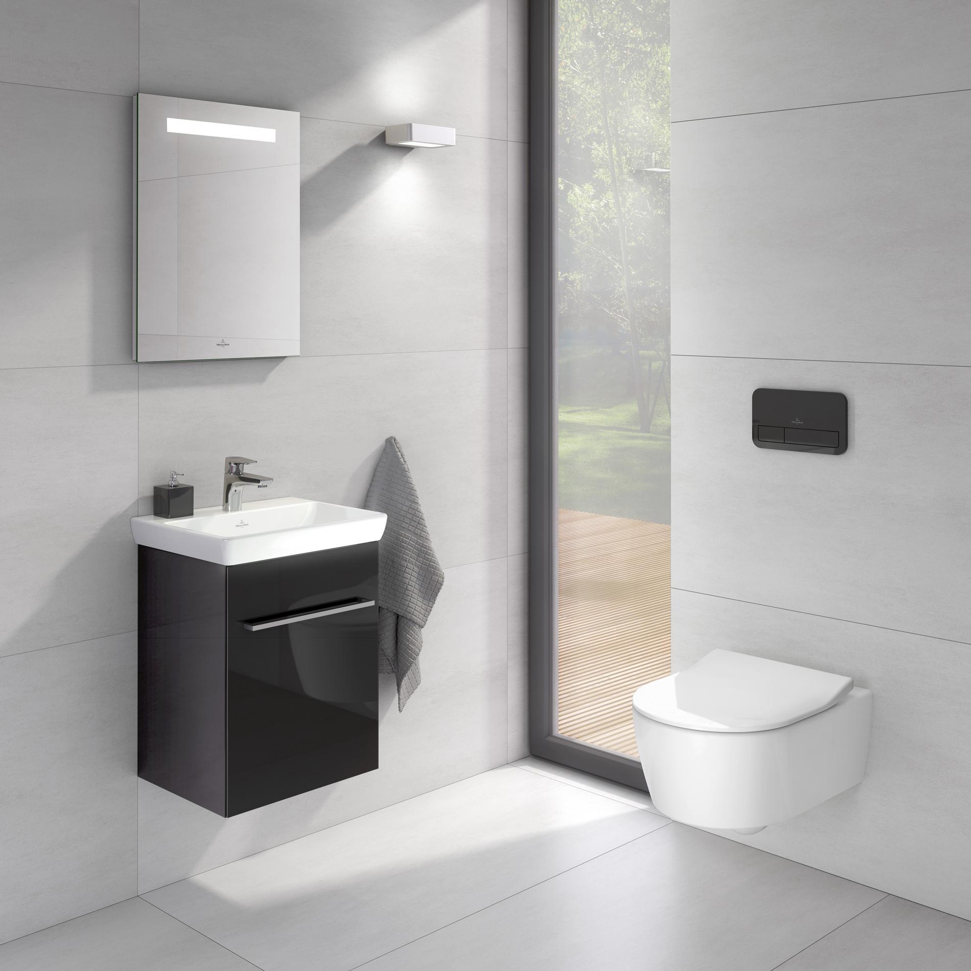 Conseils déco en noir & blanc pour une salle de bains plus ...