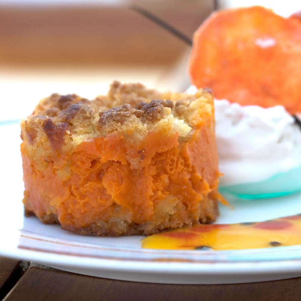 recette crumble de patate douce et d orange am re cuisine. Black Bedroom Furniture Sets. Home Design Ideas
