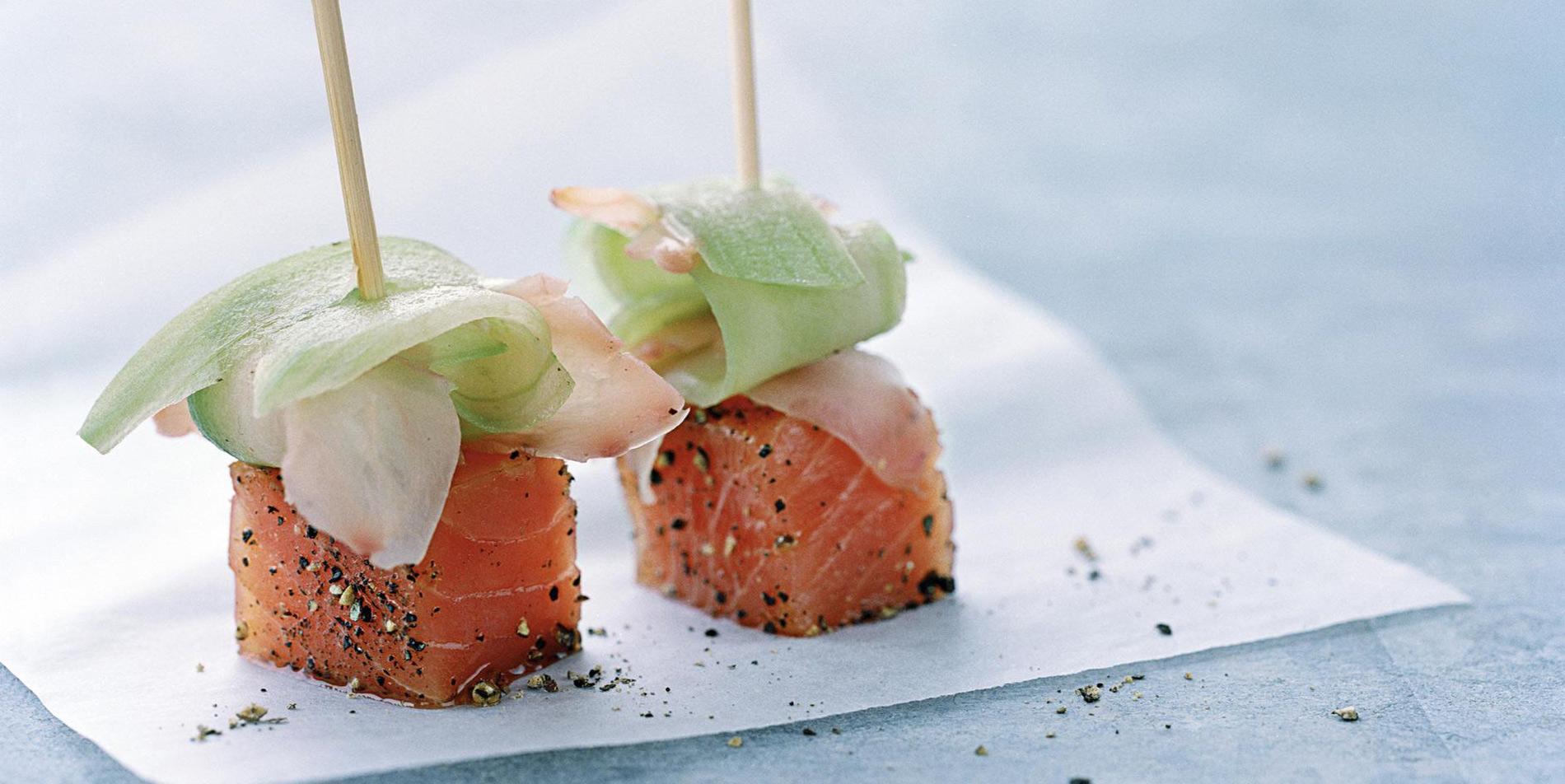 Le saumon en dix recettes chic et faciles cuisine for Entrees festives faciles