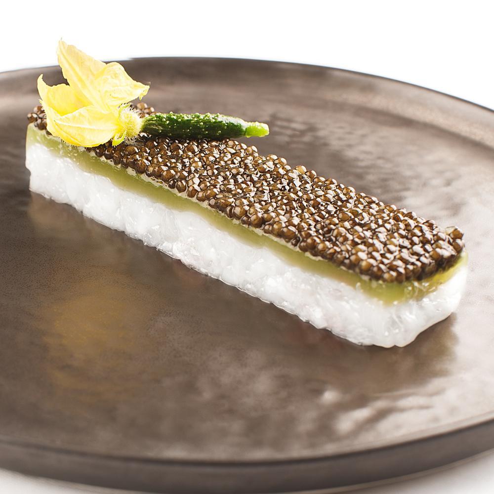 Recette tartare de langoustine au caviar et concombre - Recette de cuisine gastronomique francaise ...