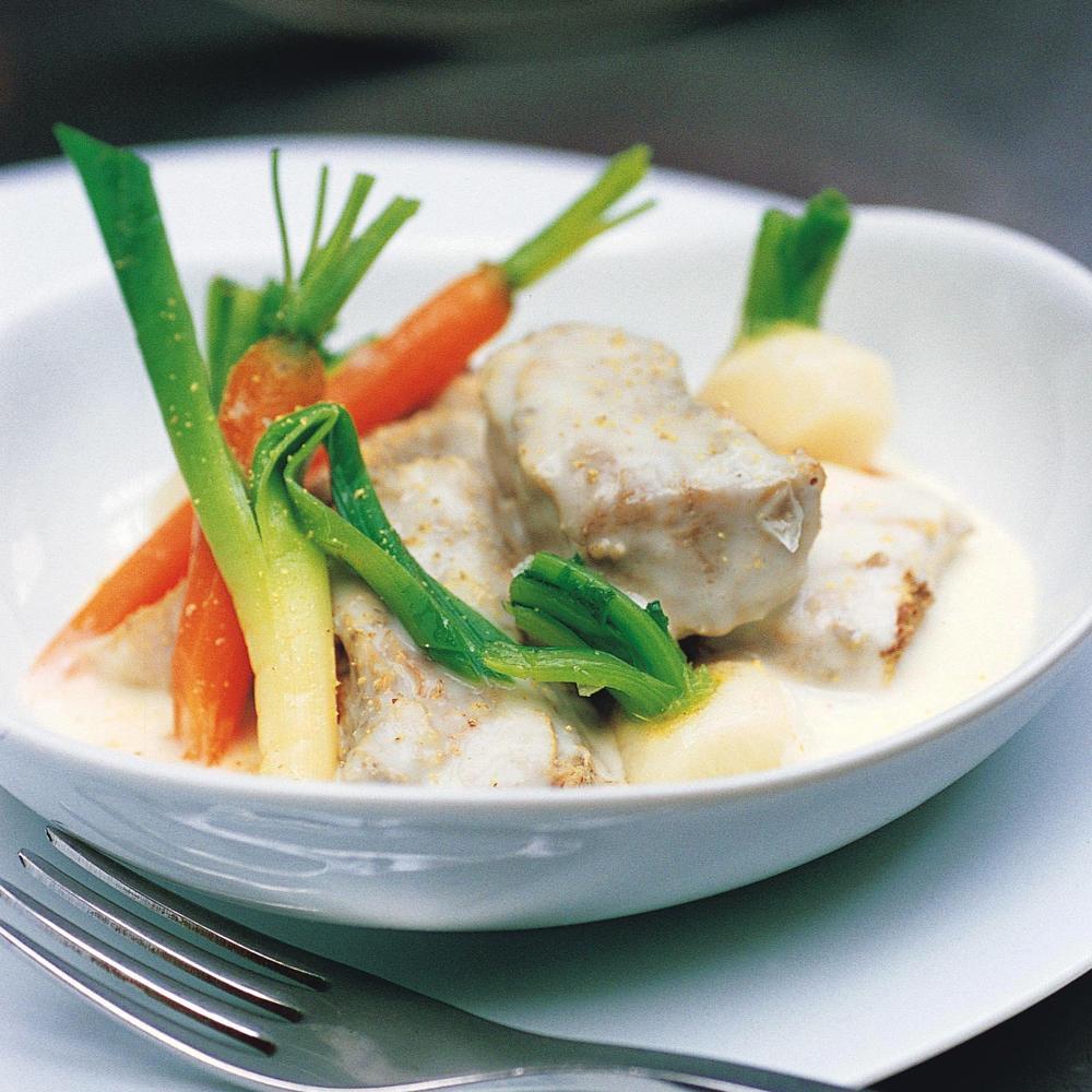 voir la recette de la blanquette de veau des familles