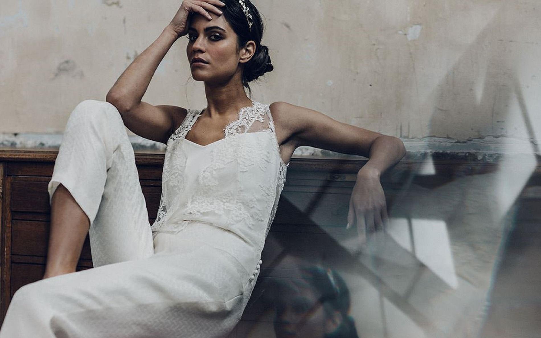 Mariage : le pantalon, plus chic que la robe de mariée : le smoking ...