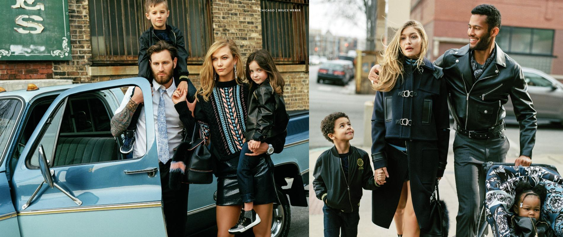 Karlie kloss et gigi hadid m res de famille pour versace for Style maison de famille