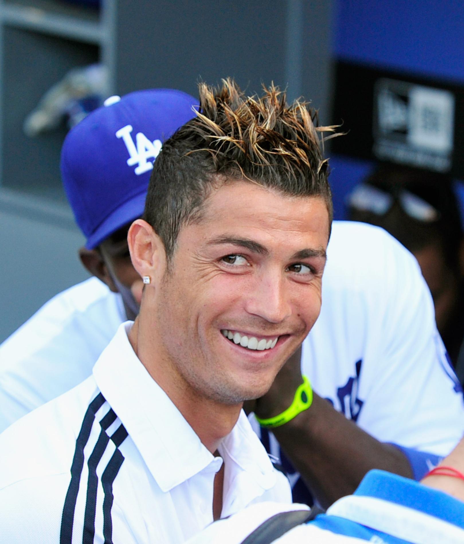 Cristiano Ronaldo et sa coiffure hasardeuse