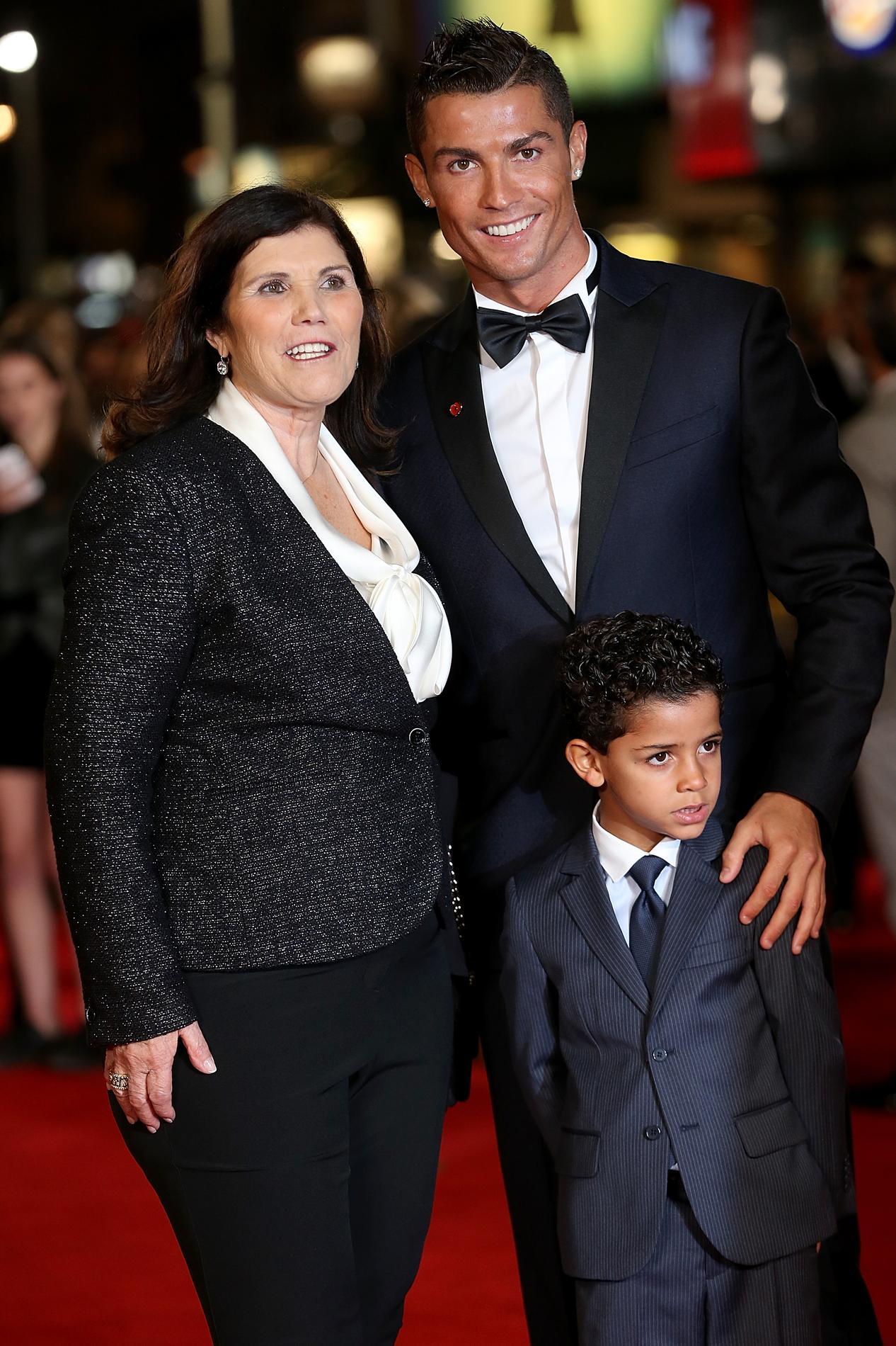 cristiano ronaldo and son at ballon dor