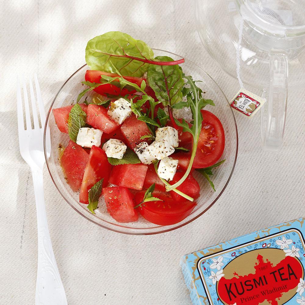 Recette salade de past que la feta cuisine madame figaro - Salade de pasteque ...