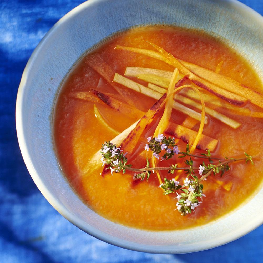 recette soupe fra che de melon et carotte cuisine. Black Bedroom Furniture Sets. Home Design Ideas