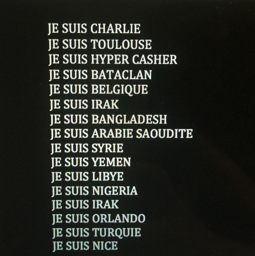 Attentat de Nice : l'hommage des stars aux victimes ... Katie Holmes Instagram
