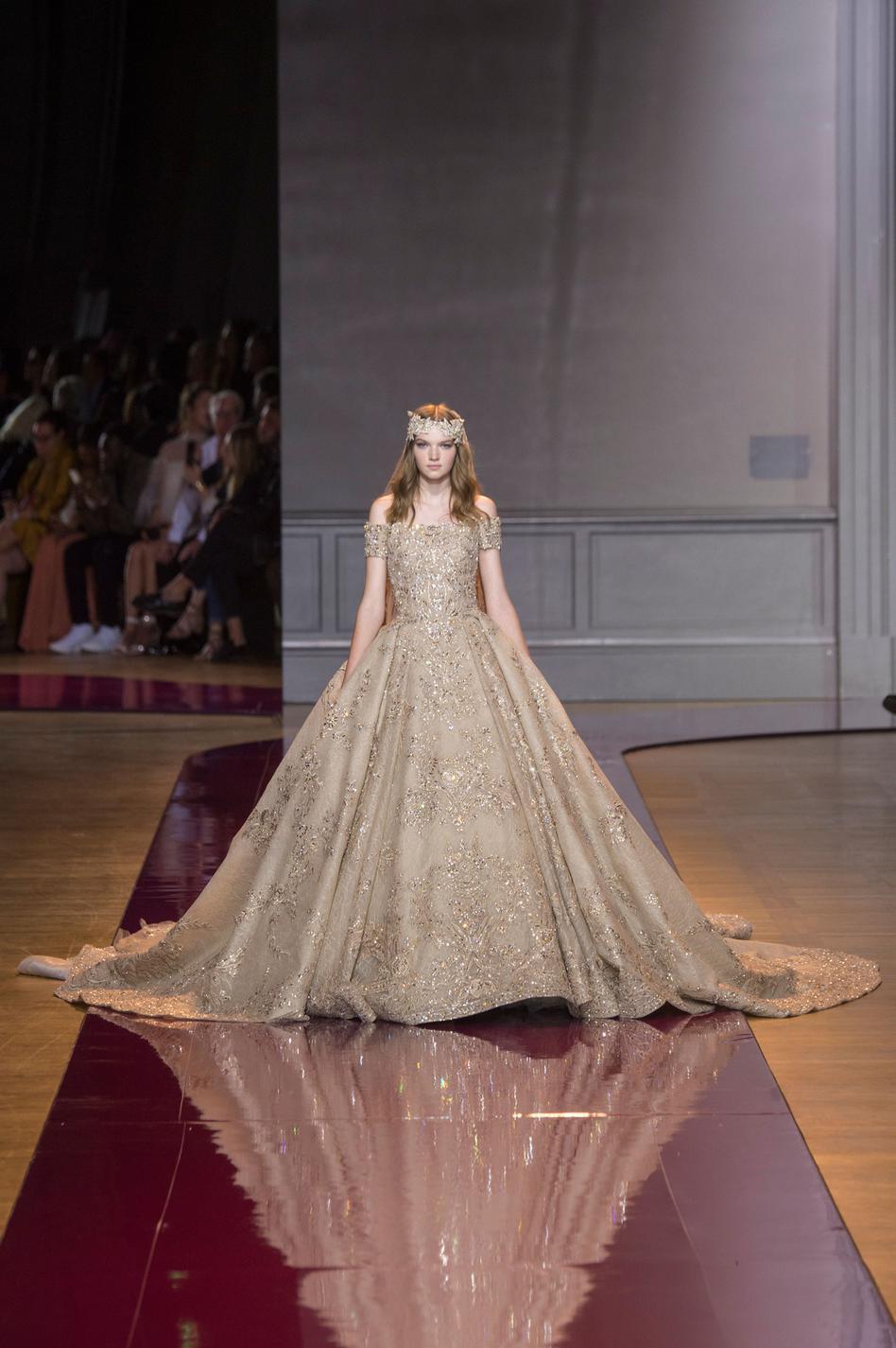 Haute couture des robes de mari e sculpturales et for 1900 haute couture