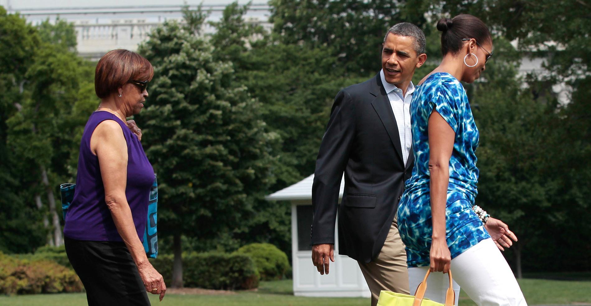 Barack obama sa belle m re son pot de colle madame figaro for A la maison blanche