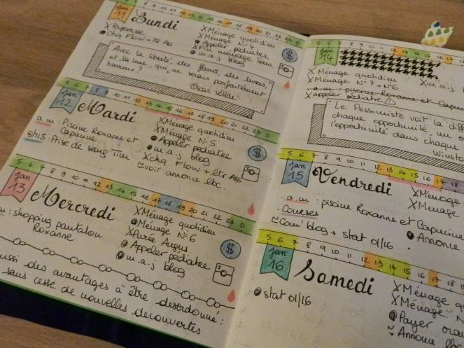 bullet journal menu