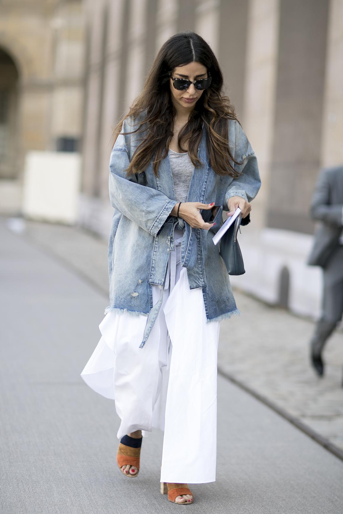 comment porter la veste en jean madame figaro