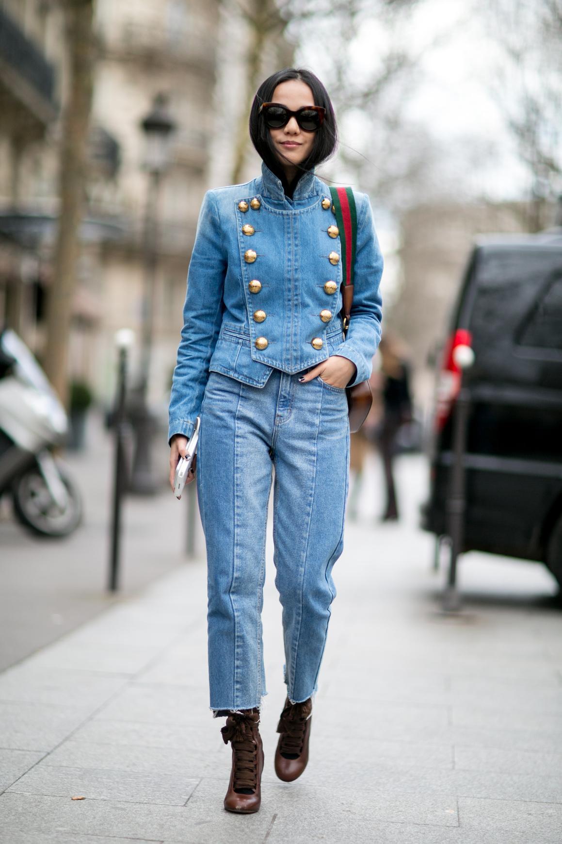 Que porter avec une veste en jean femme