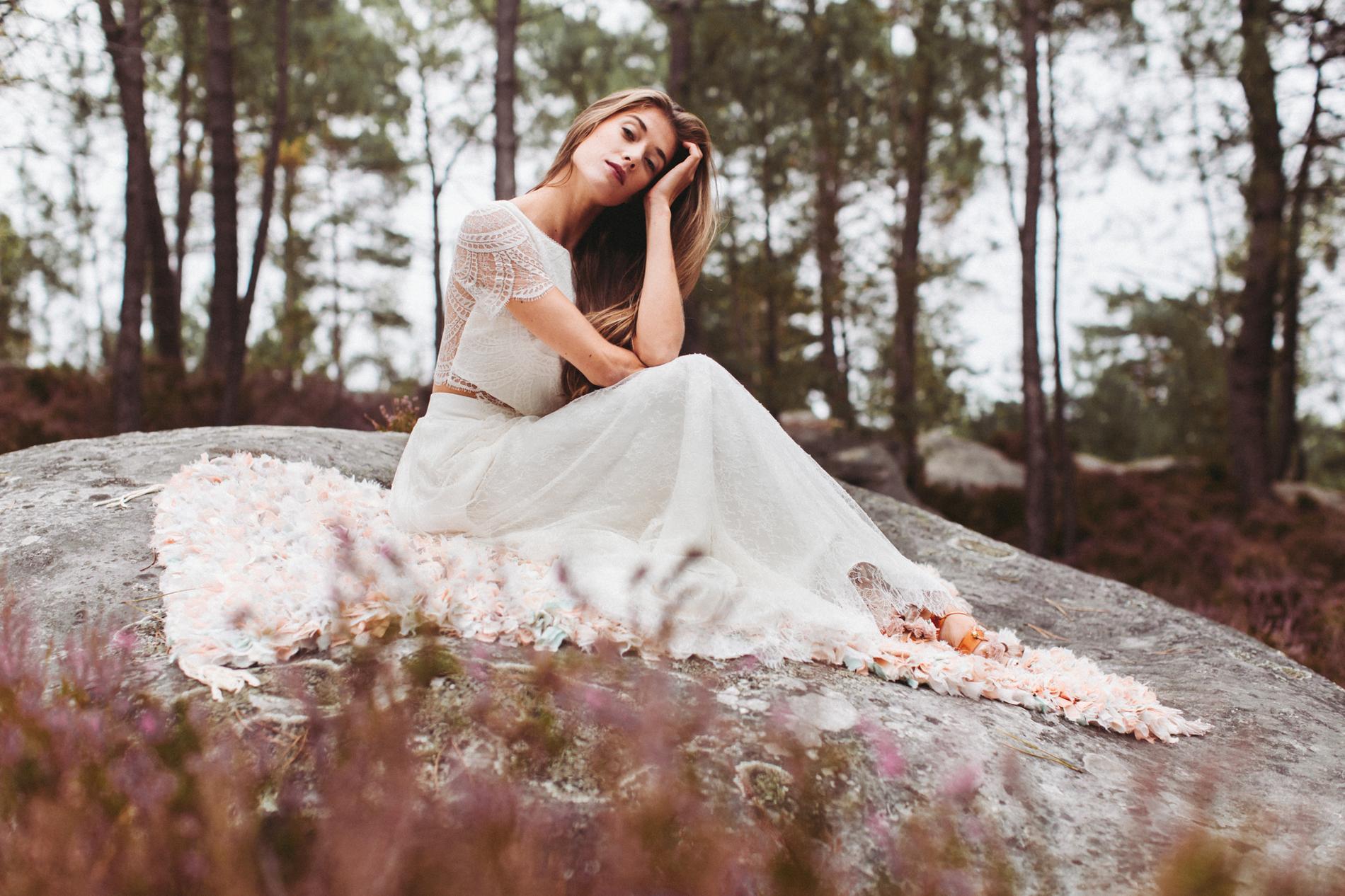 Les collections de robes de mariée 2017  Le top Milo et la jupe Anica de Lorafolk