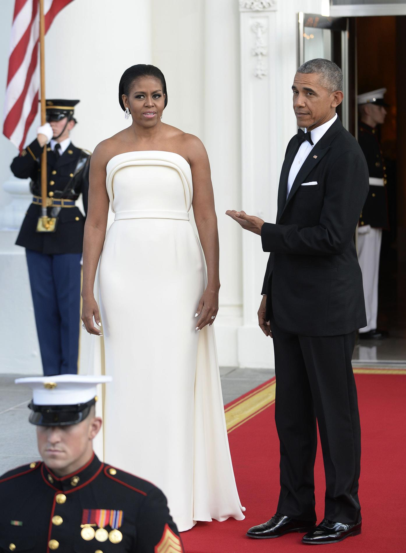 La robe jaune de michelle obama