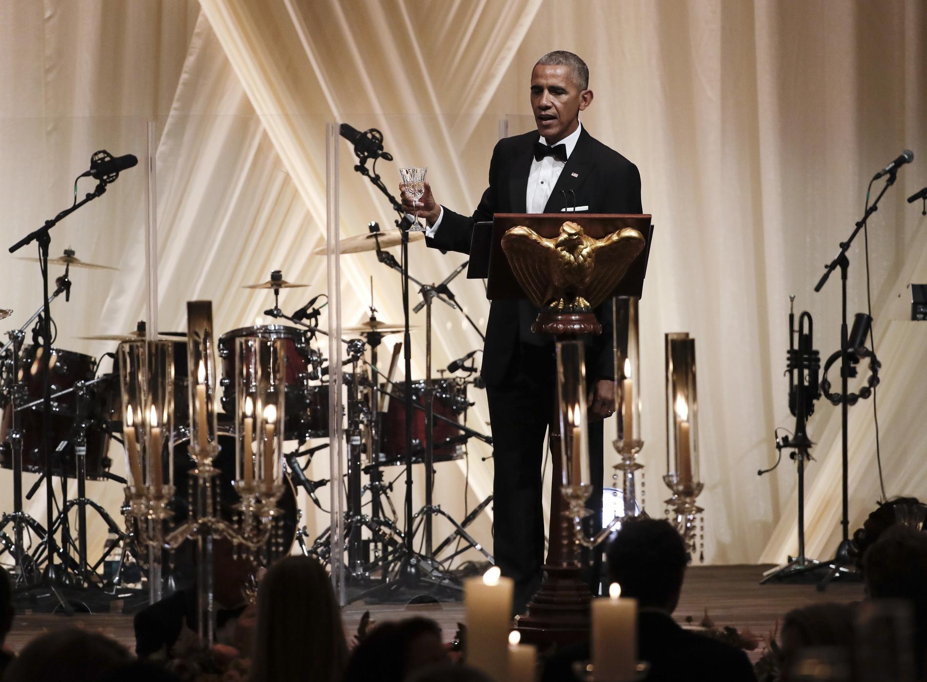 Michelle et barack obama leur dernier d ner d 39 tat la for Barack obama a la maison blanche