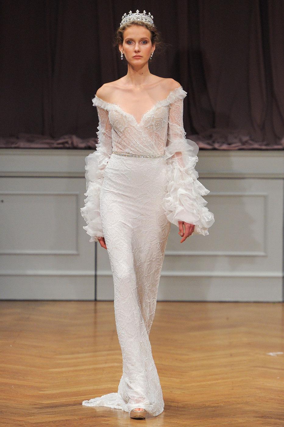 Robe de mariée  les tendances repérées à la Bridal Week de New York , Alon Livne White