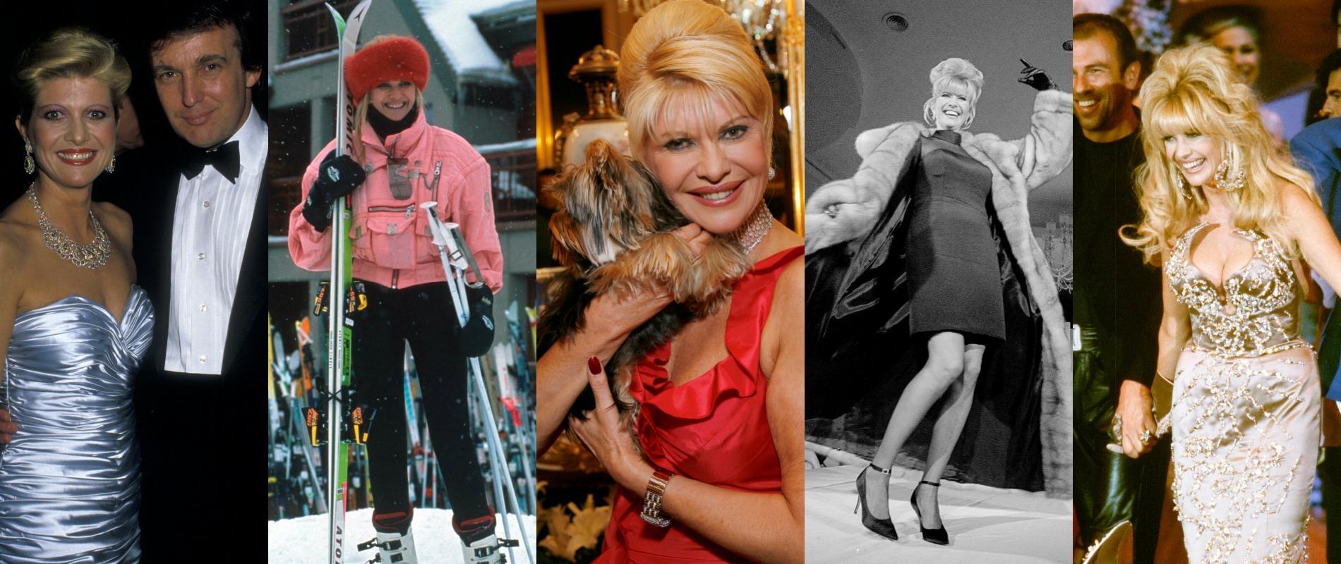 Ivana trump de skieuse à femme de donald trump de décoratrice dintérieur à icône de la jet set