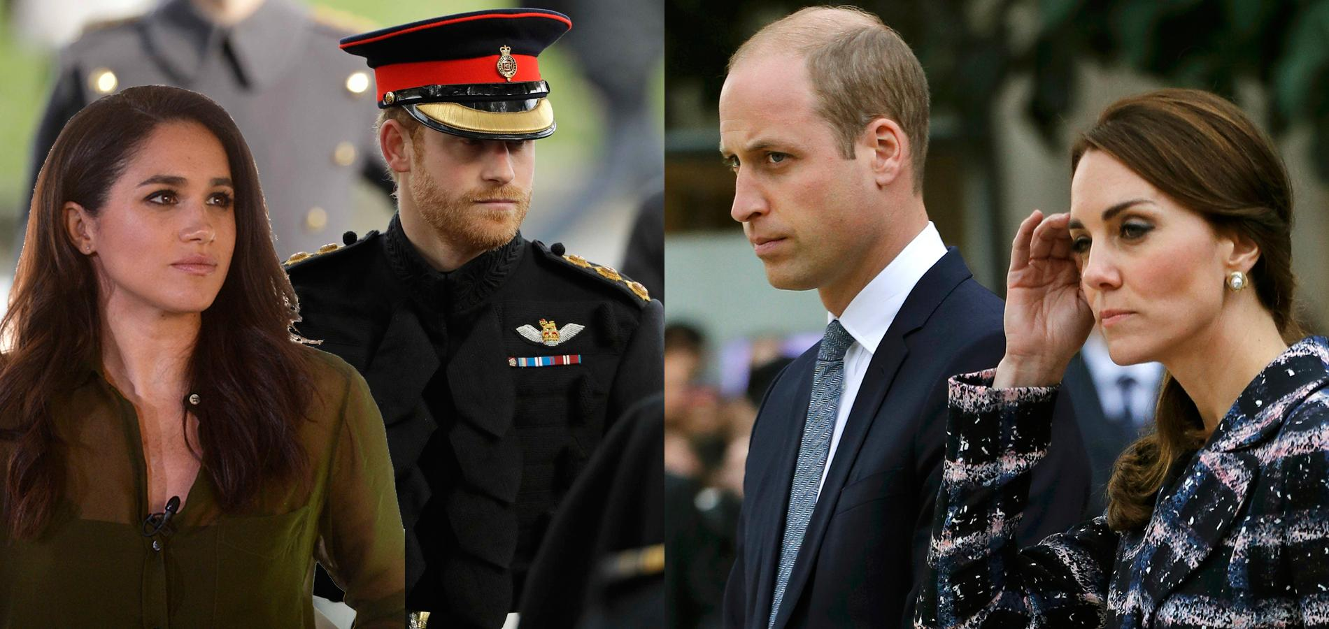 Meghan Markle et le prince Harry VS Kate Middleton et le prince William.