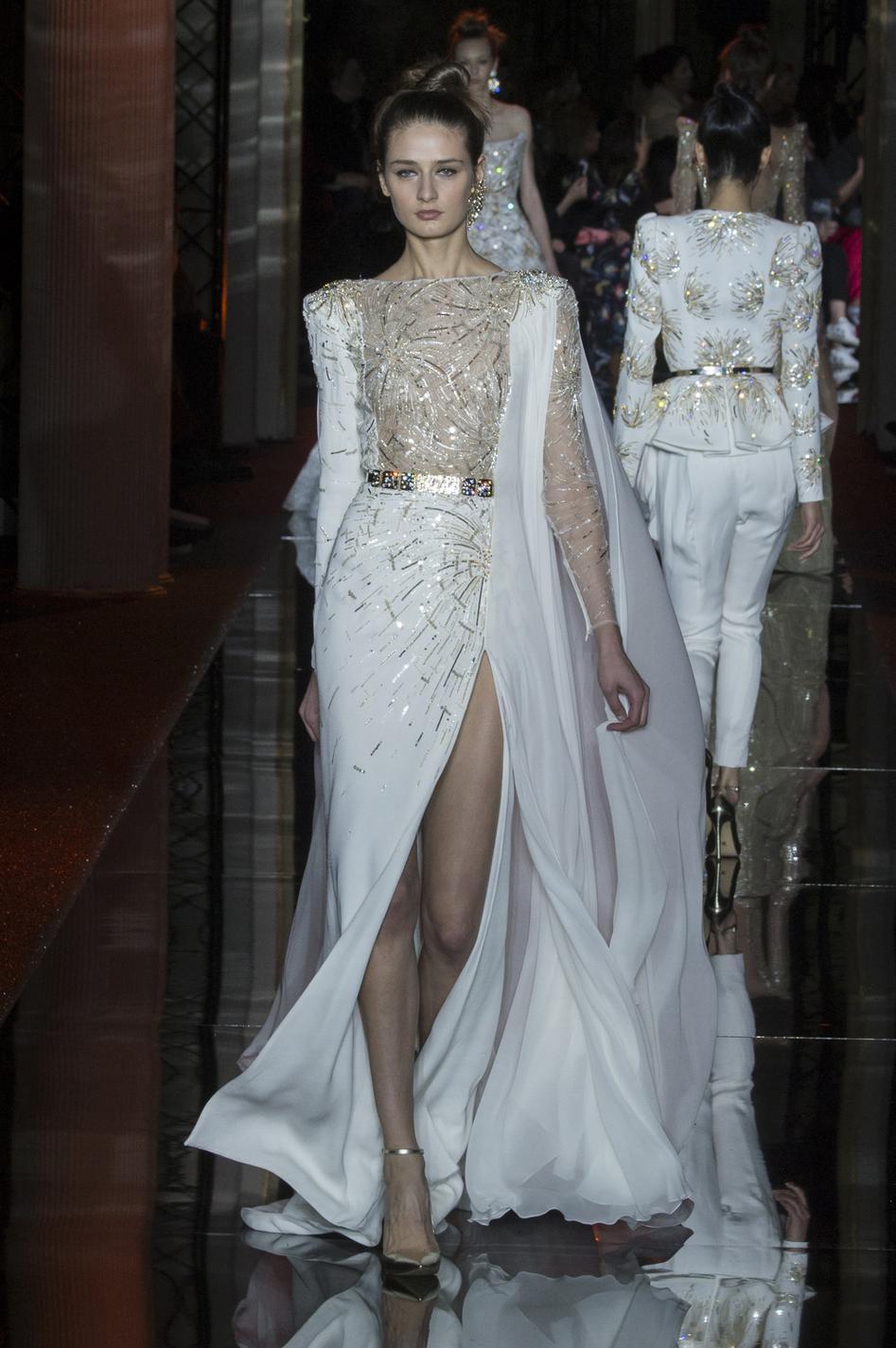 chanel dior elie saab les plus belles robes couture printemps t 2017 madame figaro. Black Bedroom Furniture Sets. Home Design Ideas