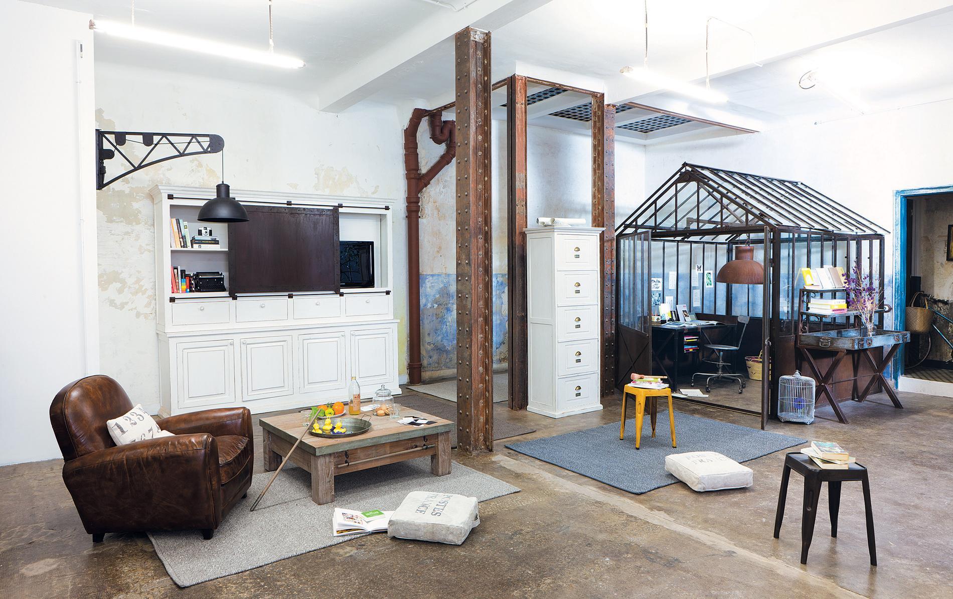 Comment am nager un loft tout en gardant de l intimit for Deco piece a vivre avec cuisine ouverte