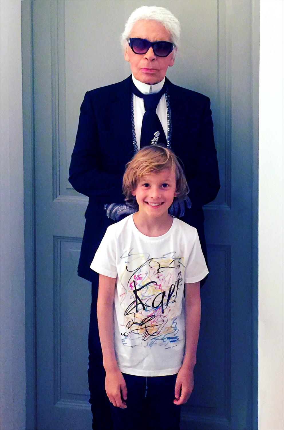 hudson kroenig x karl lagerfeld kids  la collection