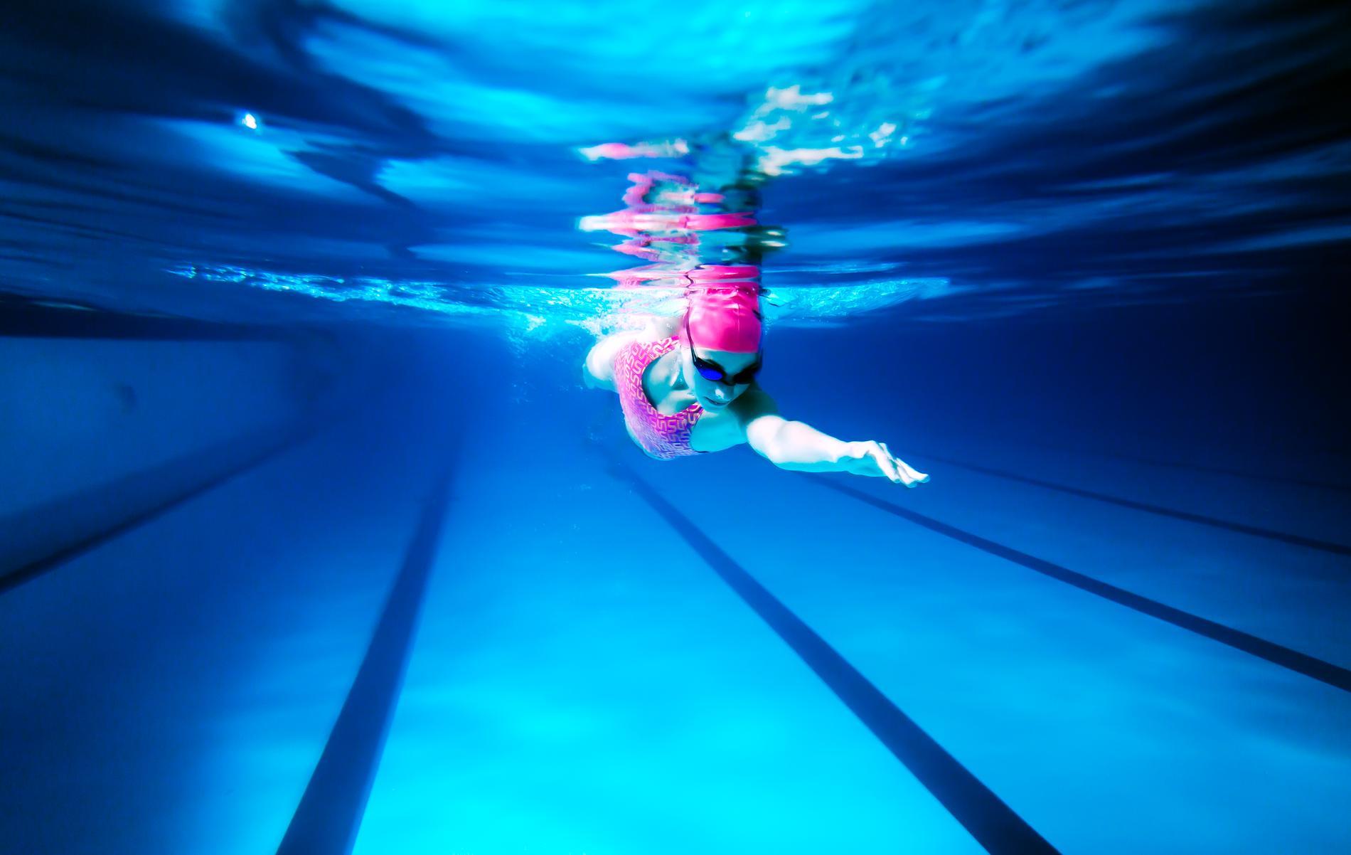 nager avec des palmes