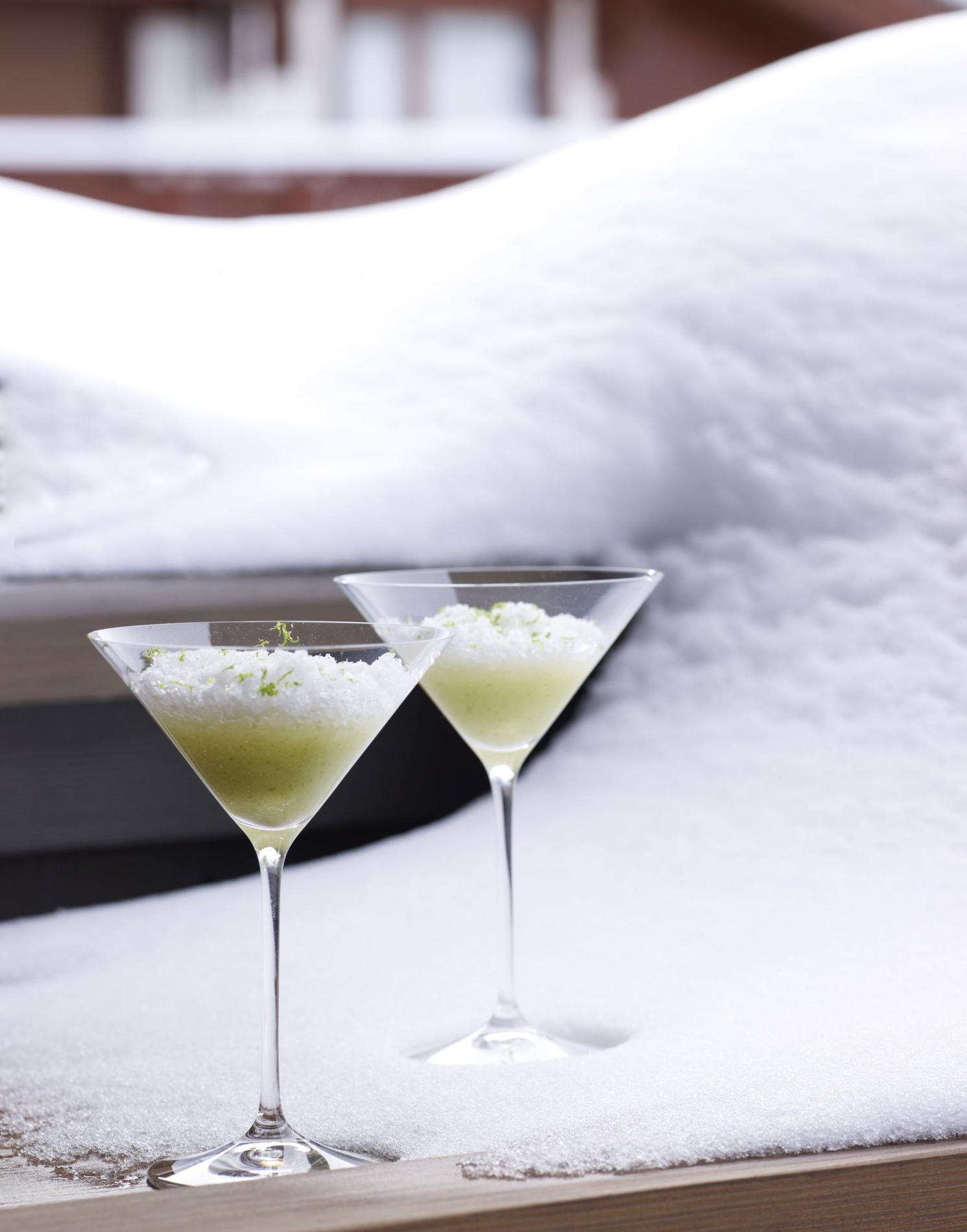 Recette granit au g n pi poire et citron vert cuisine for Cocktail genepi