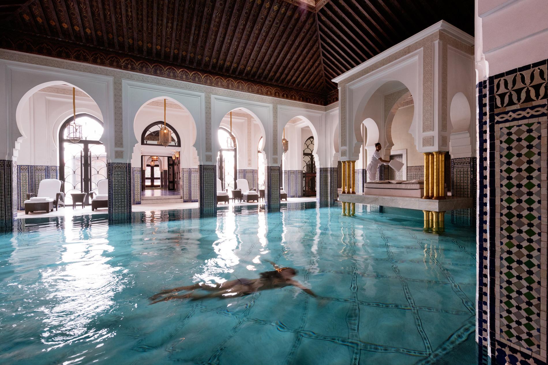 Voyage de noces escapade amoureuse la mamounia de for Bab hotel marrakech piscine