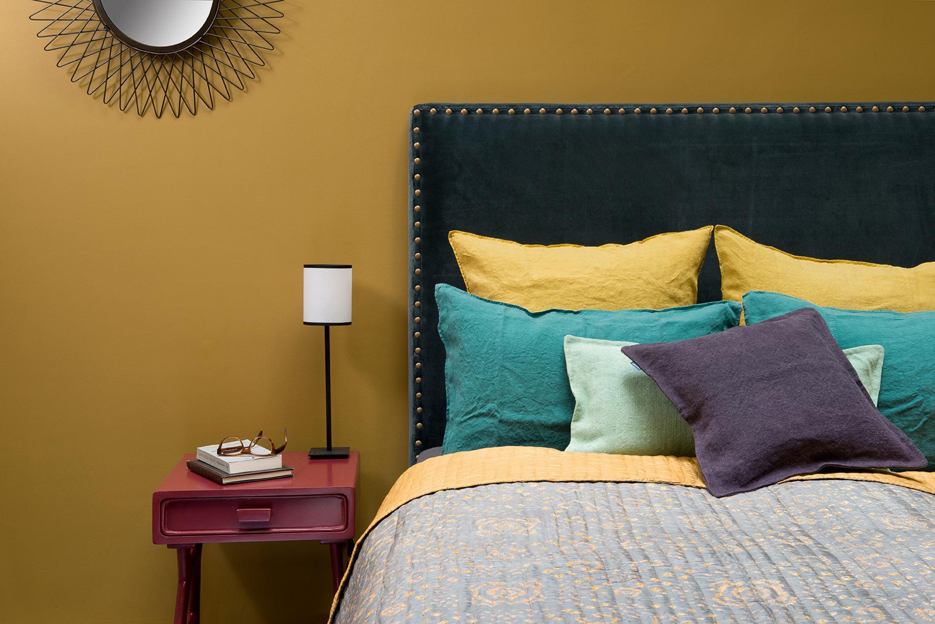 D co de chambre 20 t tes de lit qui nous inspirent for Caravane chambre 19 linge maison