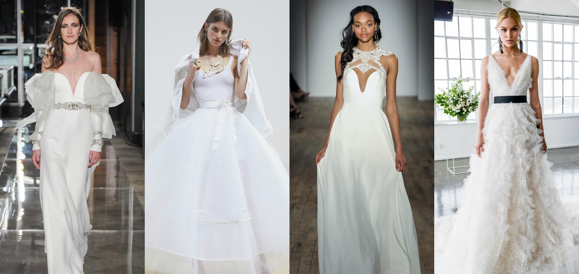 bridal week 2018 les tendances fortes des d fil s robes de mari e d crypt es madame figaro. Black Bedroom Furniture Sets. Home Design Ideas