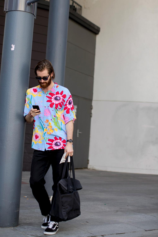 Fashion Week homme printemps,été 2018 , Le style dans la chaussette Les  plus beaux looks streetstyle de la Fashion Week homme printemps,été 2018 ,  Le