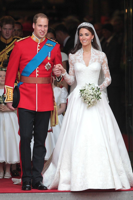 robe de mariée princesse Kate Middleton à manche longue