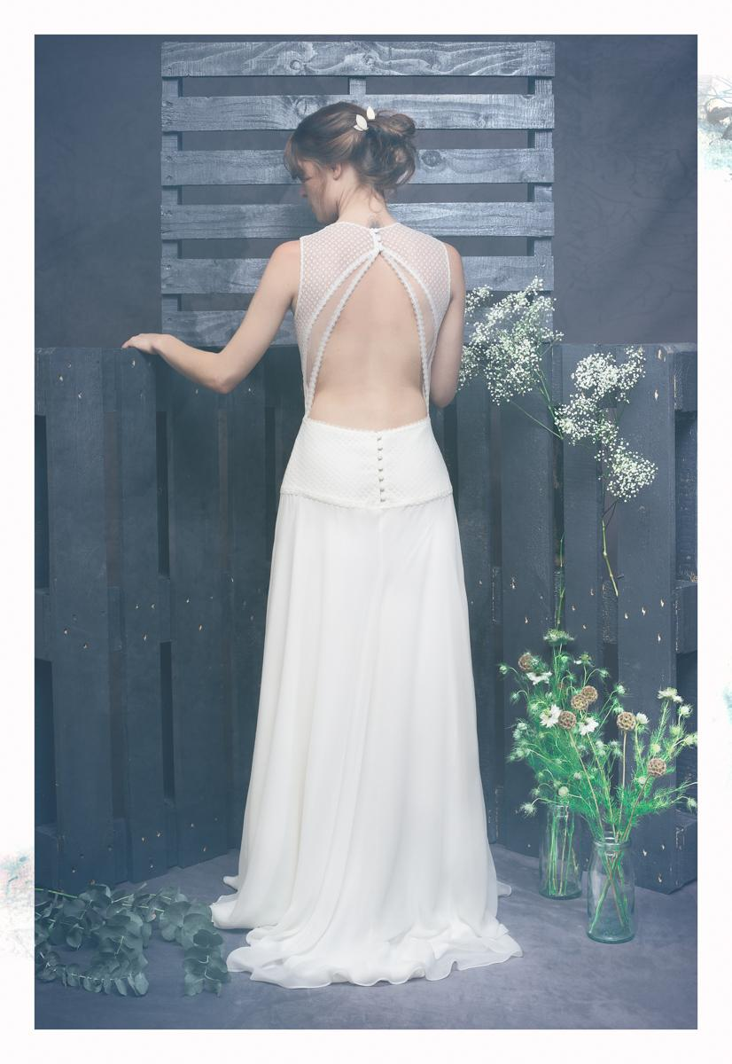robe de mariage dos nu. Black Bedroom Furniture Sets. Home Design Ideas