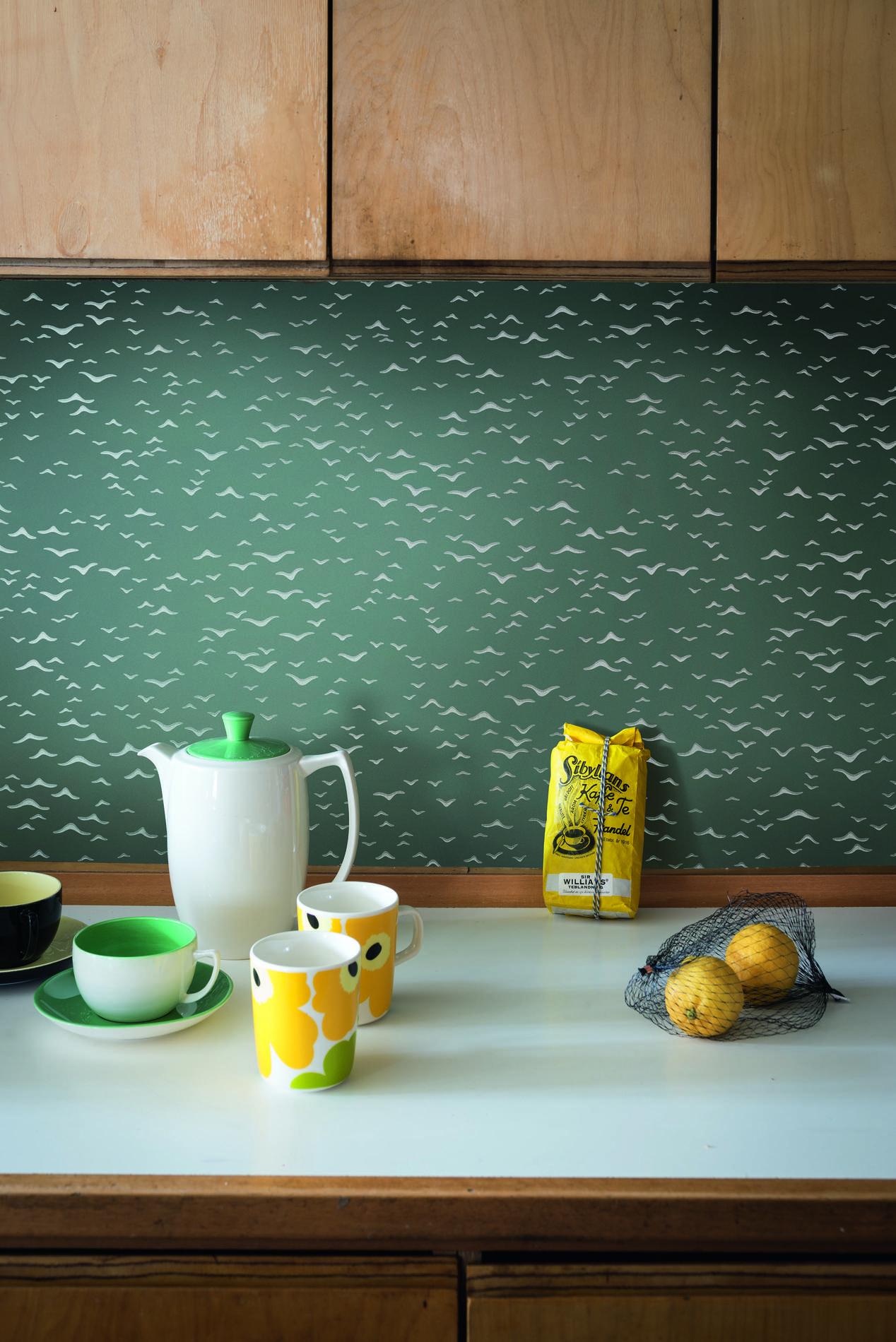 papier peint cuisine lavable best decor de chambre papier peint cuisine murs au dela de la. Black Bedroom Furniture Sets. Home Design Ideas