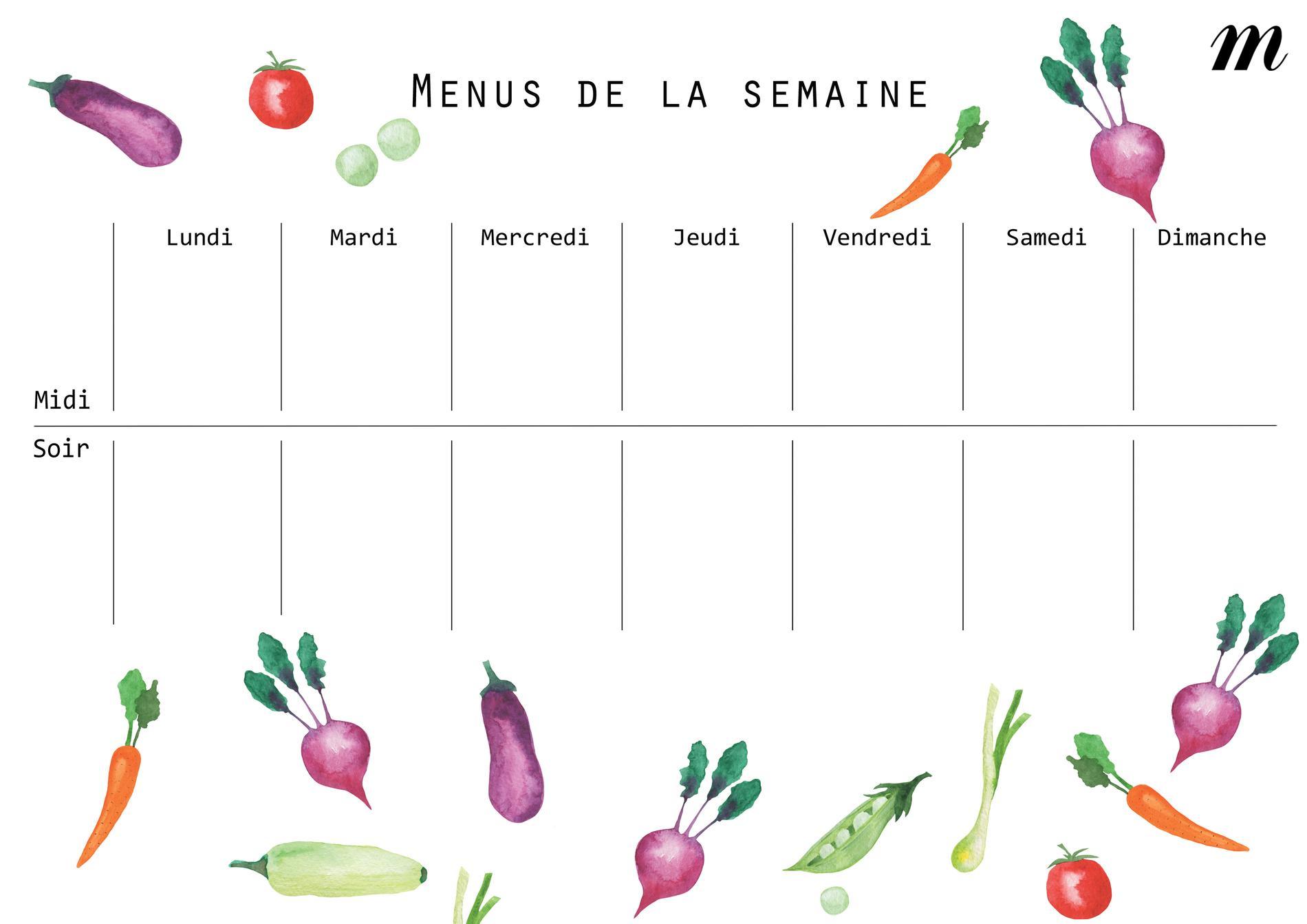 Connu Les bons conseils pour composer ses menus de la semaine - MB77