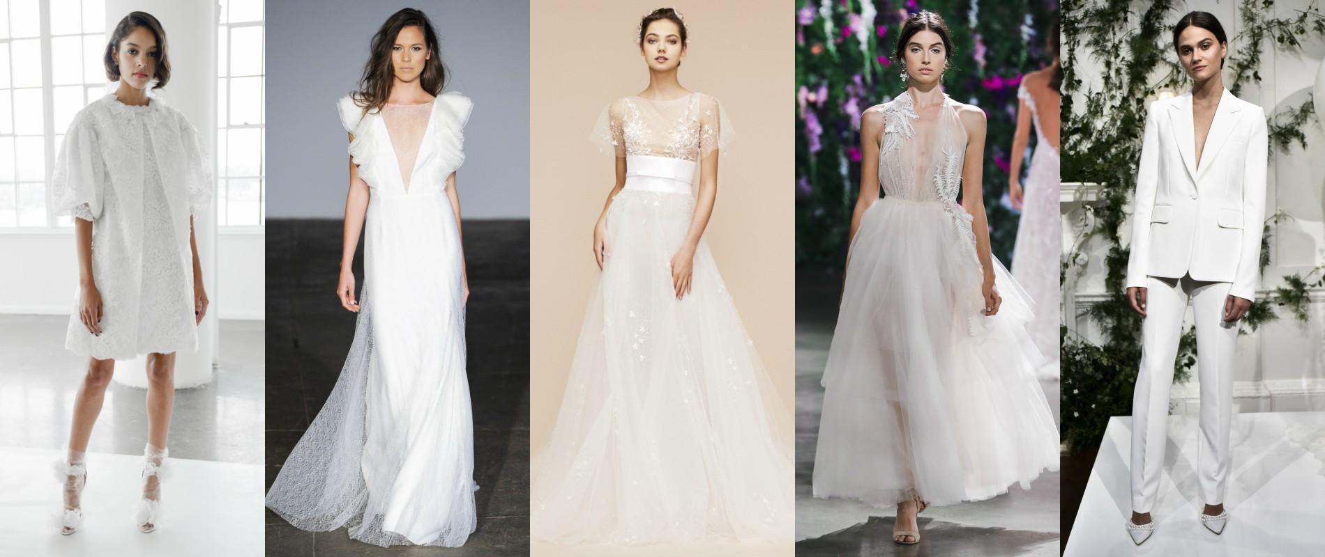 Zoom sur le meilleur des créations mariage dévoilées lors de la Bridal Week  de New York automne,hiver 2018,2019. (Défilés Marchesa Bridal, Rime  Arodaky,