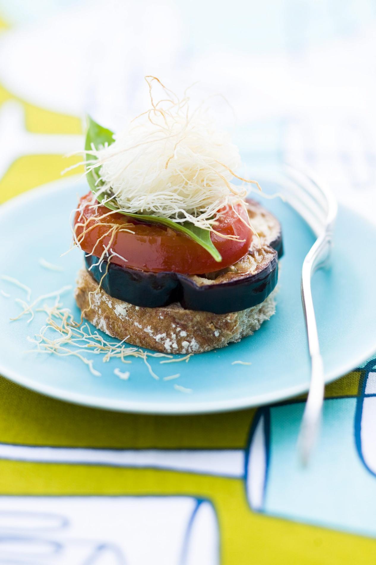 Recette Millefeuille D Aubergine Et Mozzarella Croquante Cuisine