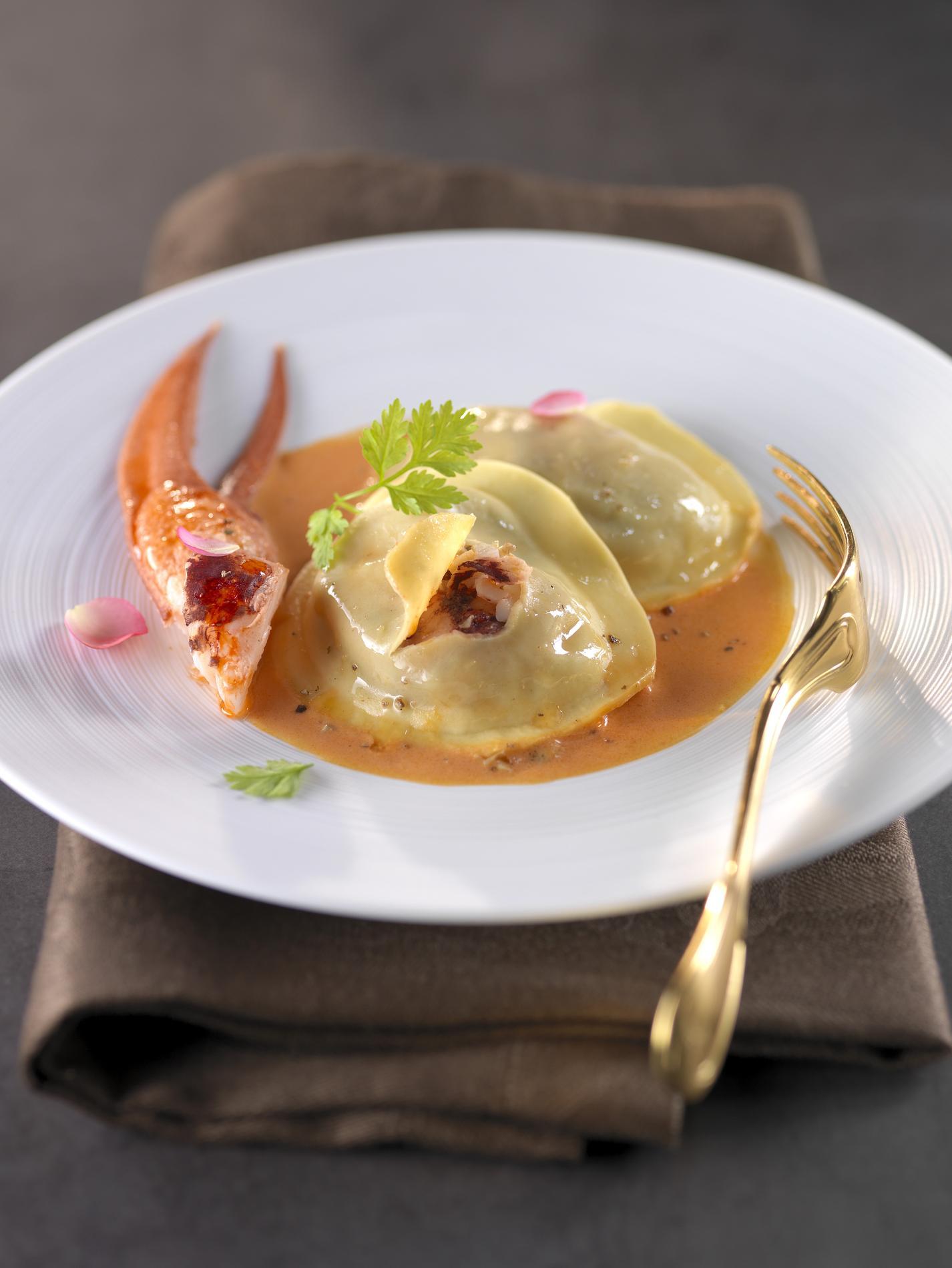 Recette bisque aux ravioles de homard cuisine madame for Resette de cuisine