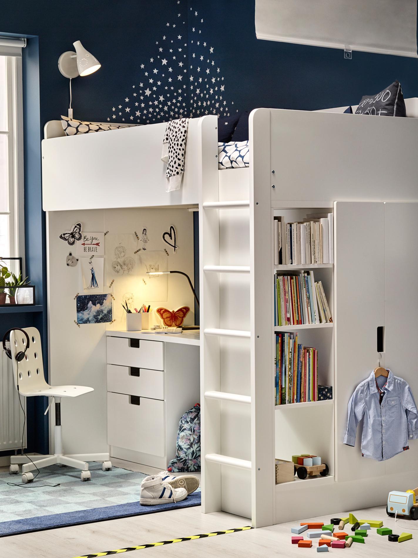 lit mezzanine ado ikea excellent ikea chambre ado un lit mezzanine dans la chambre des ados. Black Bedroom Furniture Sets. Home Design Ideas