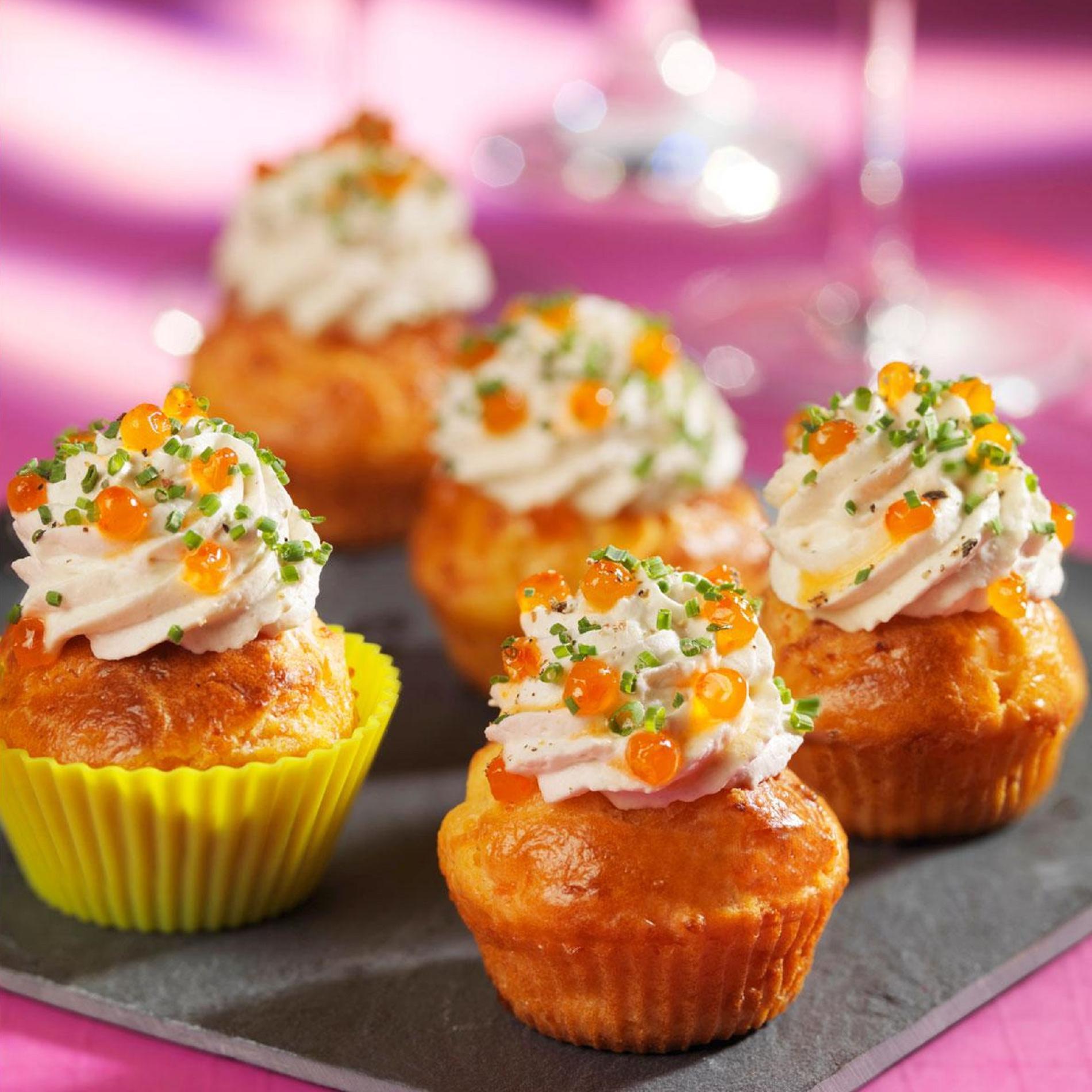 Recette cupcakes au saumon fum cuisine madame figaro - Recette de cupcake facile ...