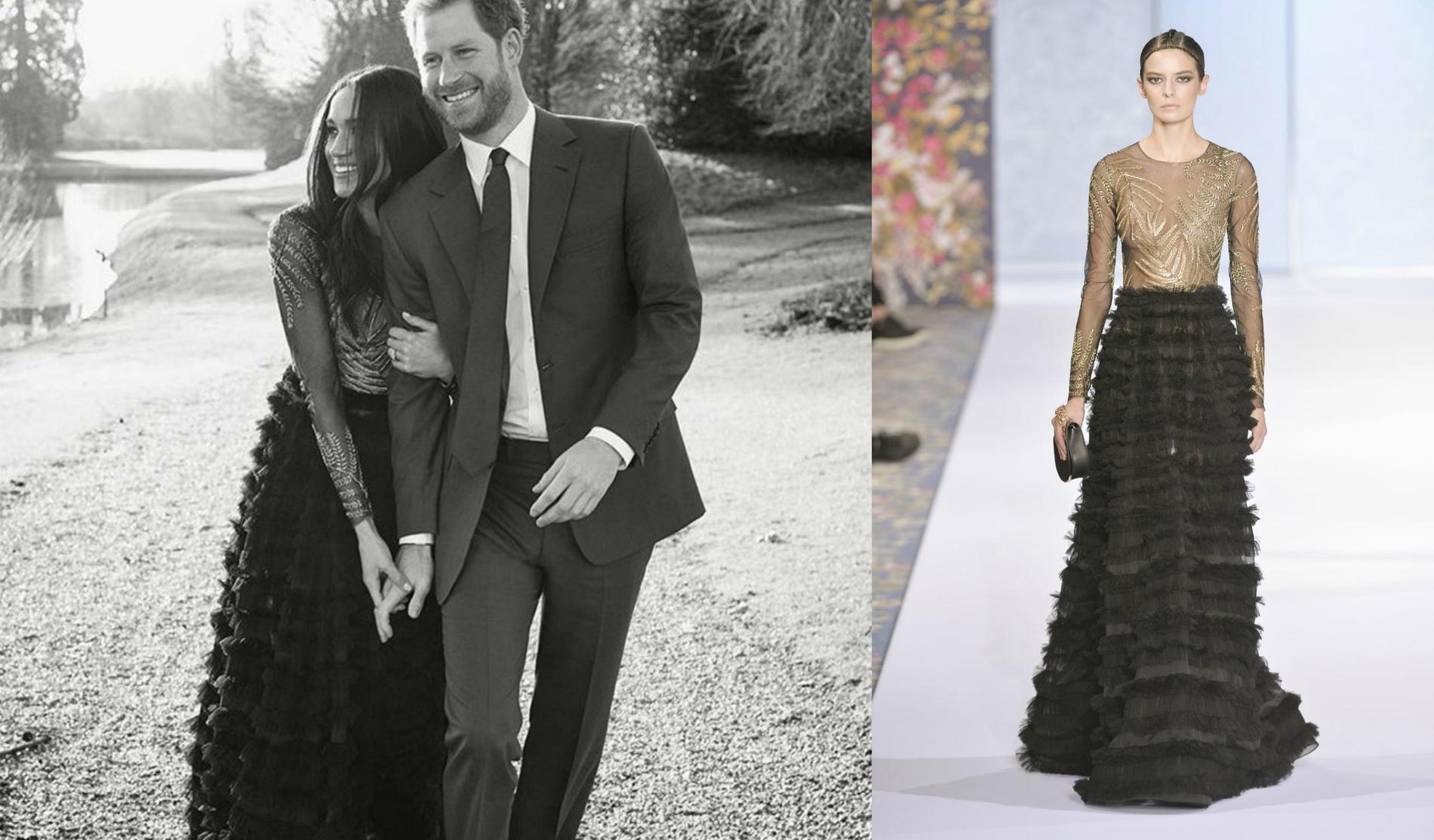 Meghan : Voici le prix de sa robe pour ses fiançailles avec le prince Harry!