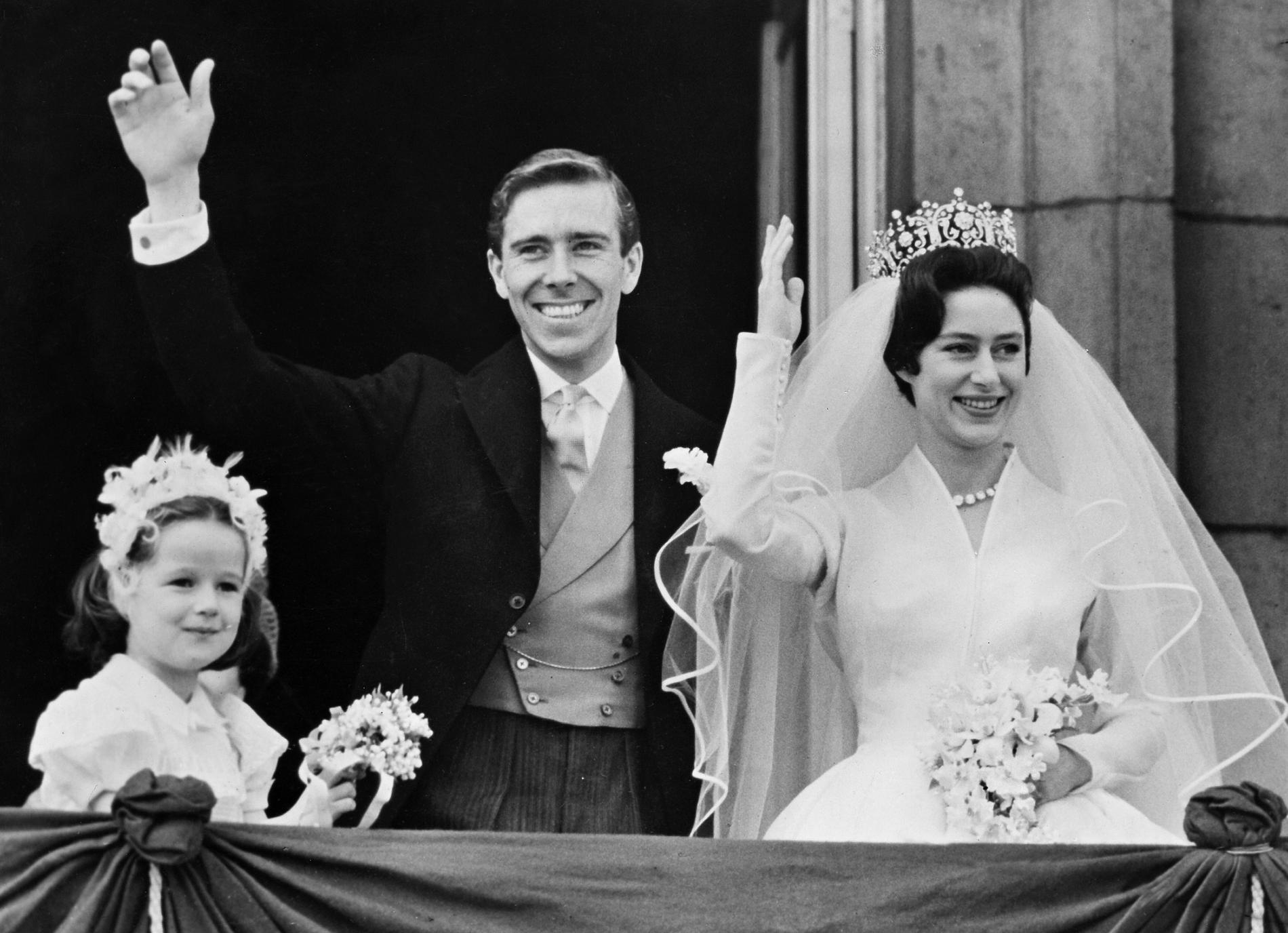 La princesse Margaret et Lord Snowdon ont célébré leur mariage le 6 mai  1960. (Londres.)
