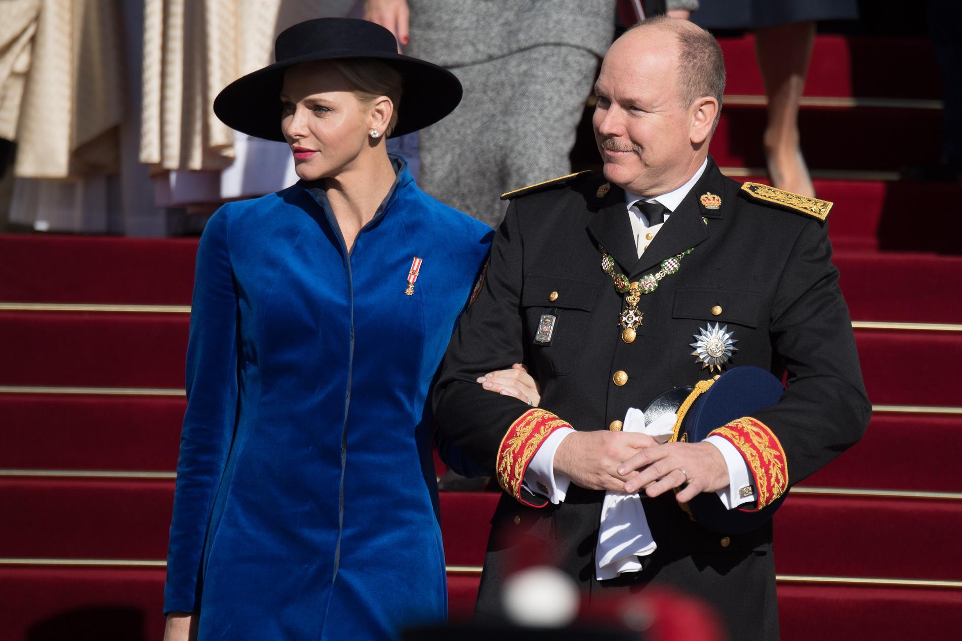 Charlene Et Albert De Monaco Le Jour De La Fete Nationale A Monaco Le