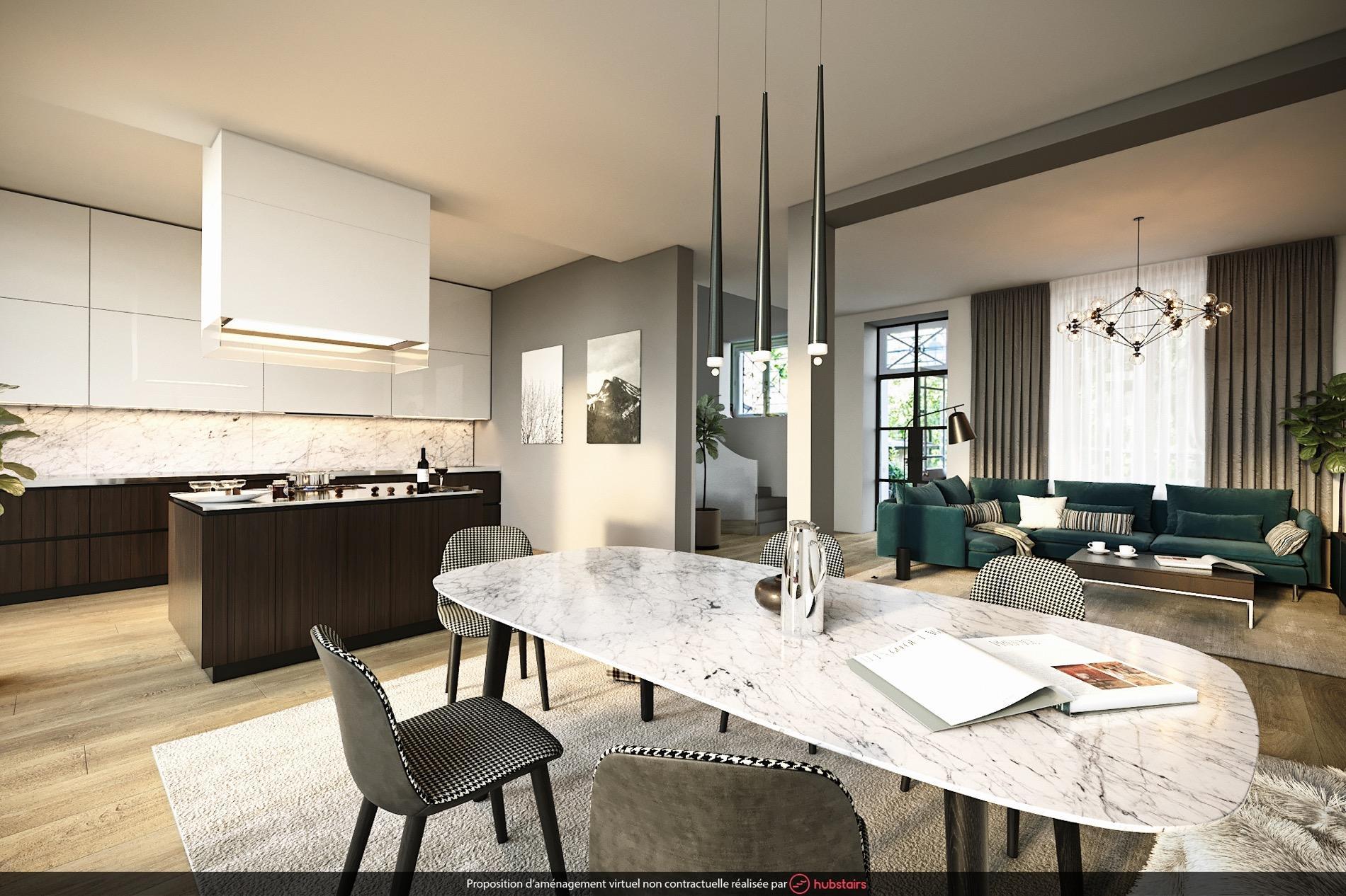 comment cr er deux espaces de vie dans un salon madame figaro. Black Bedroom Furniture Sets. Home Design Ideas